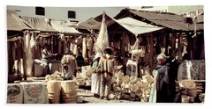 Bath Towel featuring the photograph Vintage Toluca Mexico Market by Marilyn Hunt