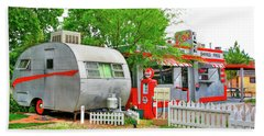 Vintage Trailer And Diner In Bisbee Arizona Bath Towel