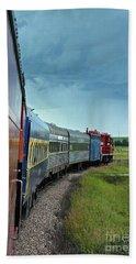 Bath Towel featuring the photograph Vintage Train by Ann E Robson