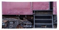 Vintage Train Car Steps Bath Towel by Terry DeLuco