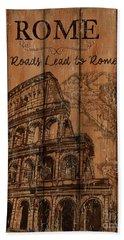 Vintage Travel Rome Hand Towel