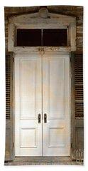Vintage Tropical Weathered Key West Florida Doorway Bath Towel by John Stephens