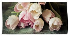 Vintage Tulips Bath Towel