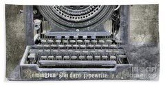 Vintage Typewriter Photo Paint Hand Towel