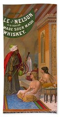Vintage Whiskey Ad 1883 Hand Towel