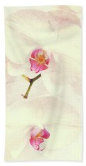 Vintage White Orchids Hand Towel