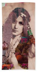 Vintage Woman Built By New York City 2 Hand Towel