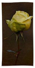 Vintage Yellow Rose 2018 Hand Towel