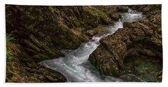 Hand Towel featuring the photograph Vintgar Gorge Rapids - Slovenia by Stuart Litoff