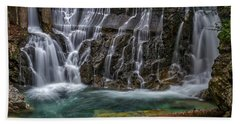 Hand Towel featuring the photograph Vintgar Gorge Waterfall - Slovenia by Stuart Litoff