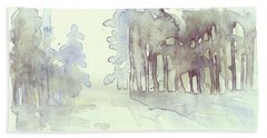 Vintrig Skogsglanta, A Wintry Glade In The Woods 2,83 Mb_0047 Up To 60 X 40 Cm Hand Towel