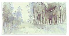 Vintrig Skogsglanta, A Wintry Glade In The Woods 2,83 Mb_0047 Up To 60 X 40 Cm Bath Towel