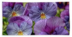 Hand Towel featuring the photograph Viola by Bonnie Willis