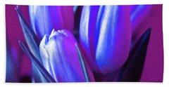 Violet Poetry Of Spring Bath Towel