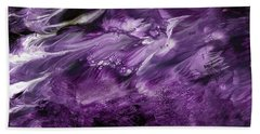 Violet Rhapsody- Art By Linda Woods Bath Towel