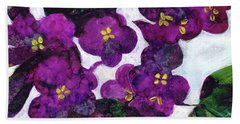 Violets Bath Towel by Julie Maas