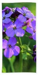 Purple Flower Bath Towel
