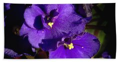 Bath Towel featuring the photograph Violets by Phyllis Denton