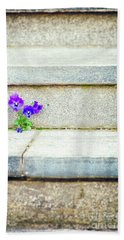 Bath Towel featuring the photograph Violets    by Silvia Ganora