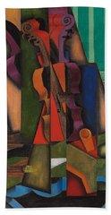 Violin And Guitar Hand Towel