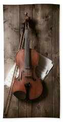 Violin Hand Towel by Garry Gay