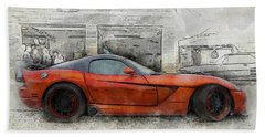 Bath Towel featuring the photograph Viper Zero To 60 by Joel Witmeyer
