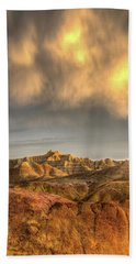 Virga Over The Badlands Hand Towel