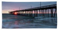 Virginia Beach Fishing Pier Bath Towel