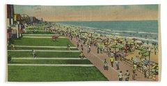 Virginia Beach Ocean Front Boardwalk Hand Towel