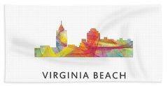 Virginia Beach  Virginia Skyline Bath Towel