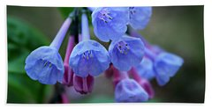 Blue Bells Bath Towel by William Tanneberger