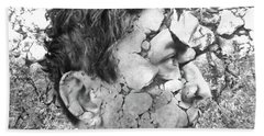 Bath Towel featuring the digital art Visceral Pieces by Beto Machado
