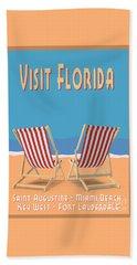 Visit Florida Saint Augustine Miami Beach Key West Fort Lauderdale Hand Towel