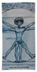 Vitruvian Alien Bath Towel