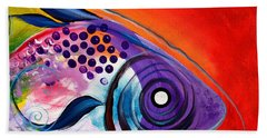 Vivid Fish Bath Towel