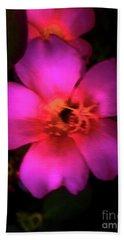 Vivid Rich Pink Flower Bath Towel