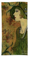 Vogue Twenties Hand Towel by P J Lewis