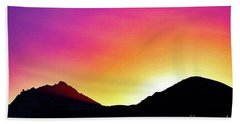 Volcanic Sunrise Hand Towel
