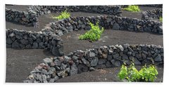 Volcanic Vineyards Bath Towel by Delphimages Photo Creations