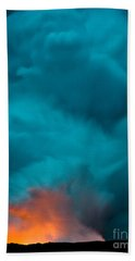 Volcano Smoke And Fire Bath Towel