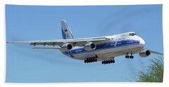 Volga-dnepr An-124 Ra-82068 Landing Phoenix Sky Harbor June 15 2016 Bath Towel