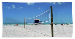 Bath Towel featuring the photograph Volley Ball On The Beach by Gary Wonning