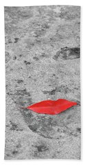 Hand Towel featuring the photograph Voluminous Lips by Dale Kincaid