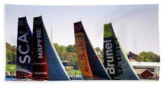 Volvo Ocean Race Newport Ri Bath Towel by Tom Prendergast