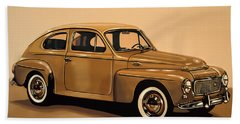 Volvo Pv 544 1958 Painting Hand Towel