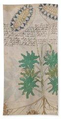 Voynich Flora 04 Bath Towel