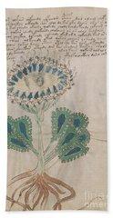Voynich Flora 11 Bath Towel