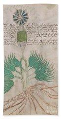 Voynich Flora 16 Bath Towel