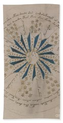 Voynich Manuscript Astro Rosette 1 Bath Towel