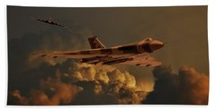 Vulcan Bombers Into The Storm Bath Towel by Ken Brannen